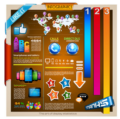 Infographic with a lot of design elements