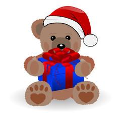 teddybär mit geschenk