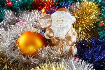 Santa claus with bauble