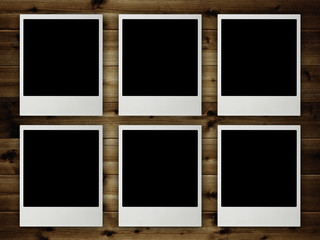 Template - Blank pictures on planks