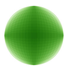 Vektor 3D Kugel grün