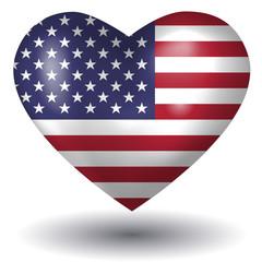 Herz mit Schatten - USA