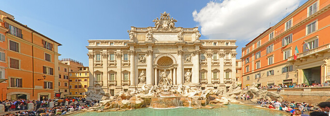 Poster de jardin Rome Fountain di Trevi - most famous Rome's fountains in the world.