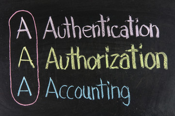 Acronym of AAA - authentication, authorization, accounting