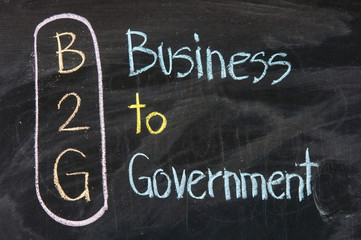 Acronym of B2G - Business to government