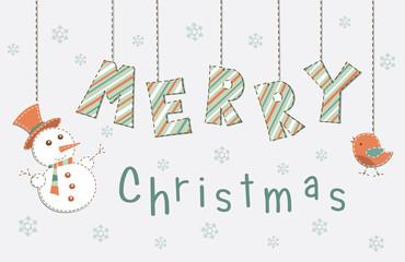 Christmas vintage greetings lettering