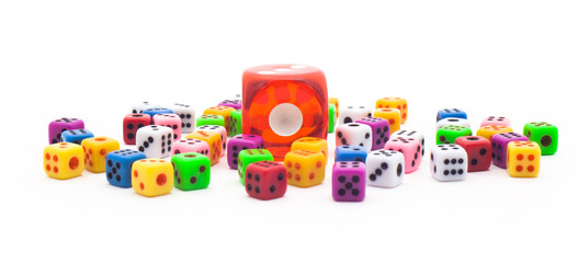 Lots of colorful dice