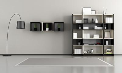 minimalist empty livingroom