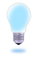 Traditional  light bulb and renewable energy