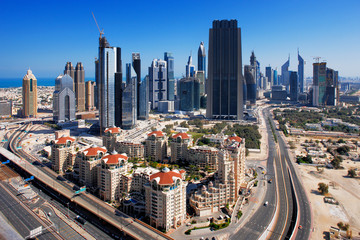 The financial hub of Dubai is graced with exciting architecture