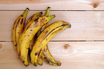 sweet ripe grill plantain bananas