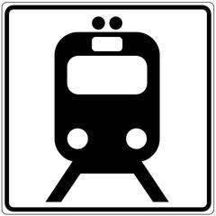 Fototapete - Schild weiß - Bahn