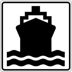 Papier Peint - Schild weiß - Wasserverkehr