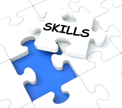 Skills Puzzle Shows Aptitudes And Talents