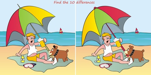 parasol-find 10 differences