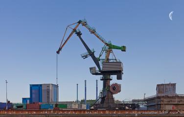 Binnenmarkt Kran im Hafen
