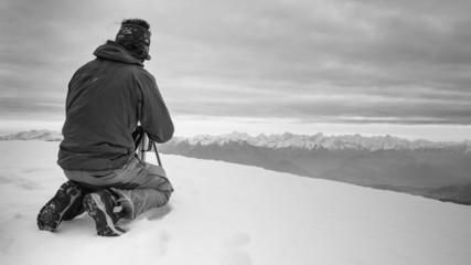 Un photographe en Montagne