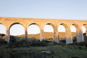 Acueducto en Riolobos, Cáceres, España