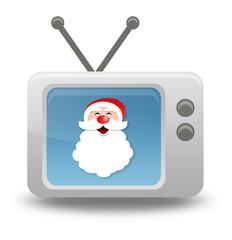 "Cartoon-style TV Icon ""Santa Claus"""