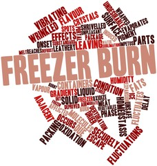 Word cloud for Freezer burn