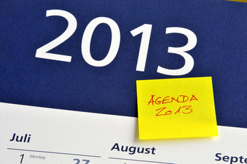 Agenda 2013, Jahreswechsel, Neujahr, Aufgaben, Vorhaben