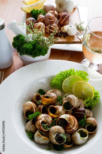 """""""Escargots de Bourgogne (snails with herbs butter)"""" Stock ..."""