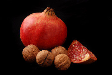 granatapfel und nuss