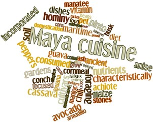 Word cloud for Maya cuisine