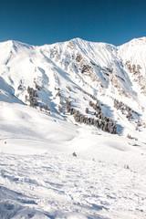 View to Ski resort in Adelboden, Berner Oberland, Switzerland