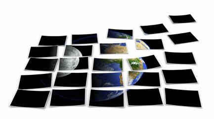 Foto Puzzle - Unsere Erde und der Mond