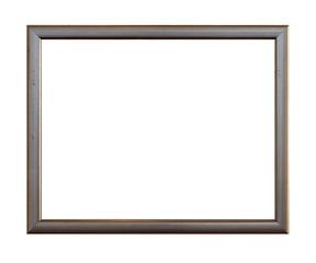 old frame over white background