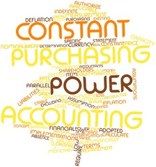 Word cloud for Constant purchasing power accounting