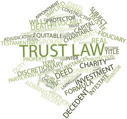 Word cloud for Trust law
