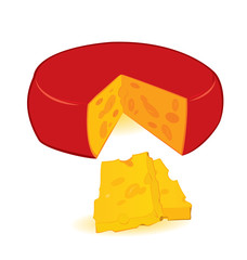 Cheese wheel slices vector