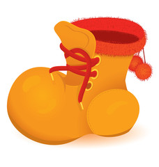 Orange boot vector
