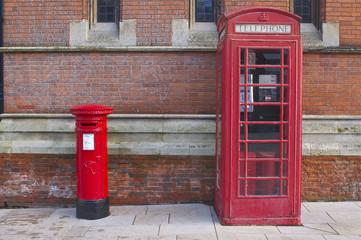 British Red Telephone and Post Box