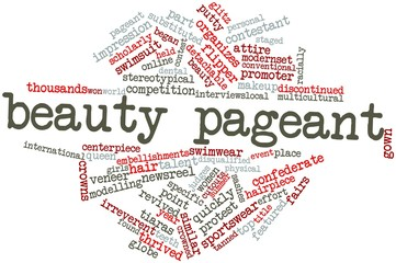 Word cloud for Beauty pageant