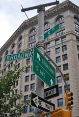 Panneaux de signalisation New York USA
