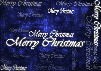 merry christmas text dark blue
