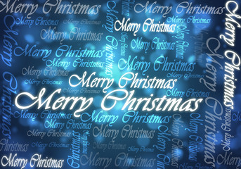 merry christmas typing blue