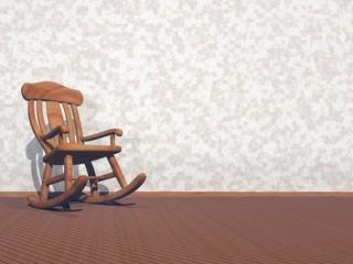 Wooden armchair - 3D render