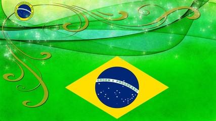 Fahne von Brasilien Flagge