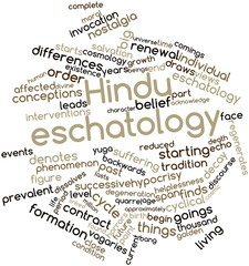Word cloud for Hindu eschatology