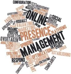 Word cloud for Online presence management