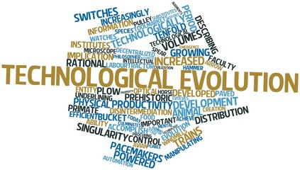 Word cloud for Technological evolution