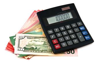 Dollars and calculator