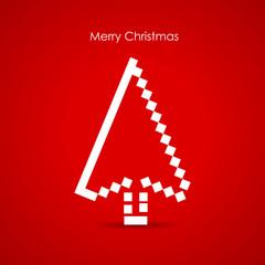 Christmas tree as a cursor, media holidays concept