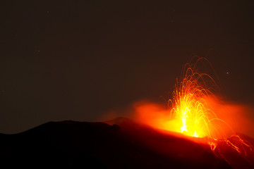 Poster Volcano spectacular volcano eruption