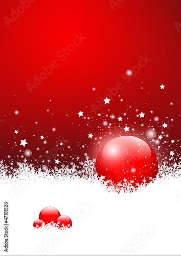 Weihnachtskarte Vorlage Hintergrund Rot Kugel Sterne Eis