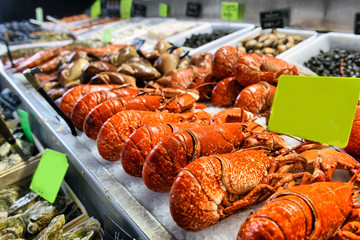 Canvas Prints Seafoods showcase of seafood